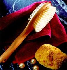 Pamper your skin when you dry brush and massage your body with the Acca Kappa Body Massage Brush, IsabellaCatalog.com