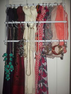 space saver accessory organization- scarves, bracelets, earrings, necklaces & more