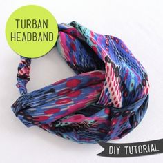 Make a quick and easy Turban Headband with Lula Louise!