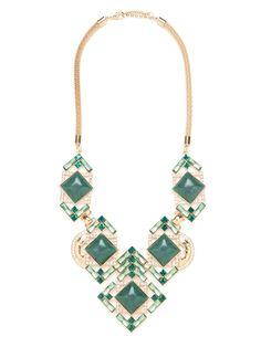 BaubleBar   Emerald Gardner Necklace