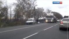 Опубликовано видео придурошного гонщика, спровоцировавшего страшное ДТП в Подмосковье