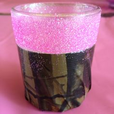 Mossy oak camo with pink accent votive!