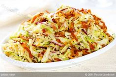 Photo of Cabbage Bacon Salad with Creamy Buttermilk Vinaigrette