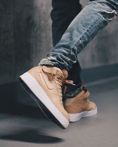 """«""""nikelab air force one mid - tan""""  by @janoschfabian  _____  tag: #snkrhds for shoutout check: www.snkrhds.com  _____  #sneaker #sneakers #sneakerhead…»"""