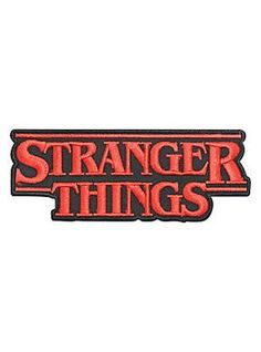 Stranger Things Logo Iron-On Patch a2818dc83262
