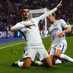 Alvaro Morata, N'Golo Kante Lead Chelsea to Win vs. Leicester City