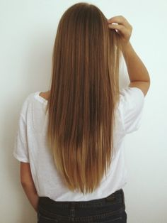 Long straight hair. #ombre