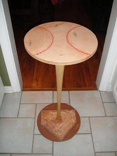 Love On The Inside: Baseball Bat Table