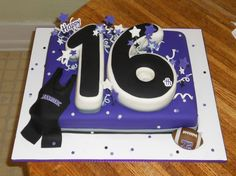 Birthday Cake Designs For 16 Year Old Boy : 1000+ images about 16 on Pinterest 16th birthday cakes ...