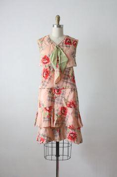 1920's Rose Print Dress. Lovely!