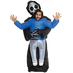 2018 Grim Reeper Pick Me Up Inflatable Costumes Adult Halloween Fancy Dress Funny Scary and more Inflatable Halloween Costumes, Inflatables for Scary Costumes, Super Hero Costumes, Funny Halloween Costumes, Adult Costumes, Happy Halloween Pictures, Trendy Halloween, Halloween Kostüm, Christmas Fancy Dress, Halloween Fancy Dress