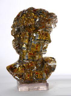 Title: David Red Bull Chinois Artist: Alben #gallerynine5 #Alben #Accumulation #sculpture #resin #mixedmedia #David #RedBull