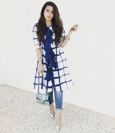 560 Likes, 23 Comments - K a Stylish Dresses, Casual Dresses, Fashion Dresses, Kurta Designs, Blouse Designs, Indian Dresses, Indian Outfits, Western Outfits, Insta Look