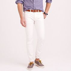J.Crew - 484 Japanese selvedge jean in white  J. Crew's 484 fit is one of the best slim fits out there. Both denims and chinos are great!