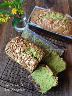 Cuisine Paradise | Singapore Food Blog - Recipes - Food Reviews - Travel: Assorted Cakes For Tea ~ Matcha Auzuki Bean Pound Cake