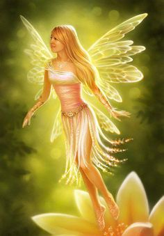 Sunlight...#fantasy #fairy #faerie #art #yellow