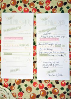 Wedding Guestbook (cards)