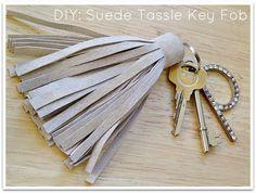 Miss P: DIY: Giant Suede Tassle Key Fob