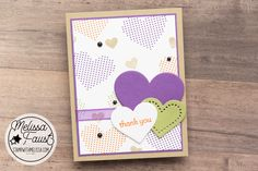 Create in Color Challenge 11: Lots of Heart by Stampin' Up! Colour List, Color, Stamping Up Cards, Happy Tuesday, Thank You Cards, Stampin Up, Card Stock, January, Catalog