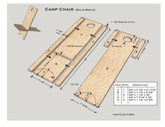 Camping Chair Glue-up method using Solid Maple