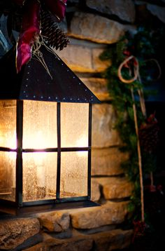 Christmas | Winter | Cozy | Christmas Decor | XMAS!!! Bebe'!!!Light from a lantern lends a festive glow to the holidays!!!