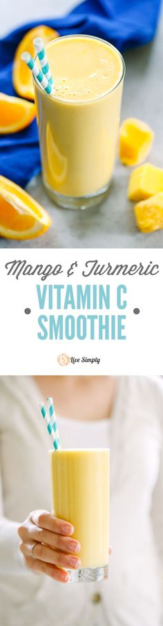 My favorite smoothie! Sooo good! This smoothie is loaded with vitamin c, too. So creamy and naturally-sweetened.
