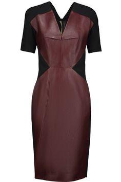 ROLAND MOURET Nabis Paneled Leather And Crepe Dress. #rolandmouret #cloth #dress