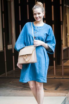 BREEZY DRESS   #ampersandheart #dress #denim #women #streetstyle #chloé #bag #bungalowgallery #bungalowstore