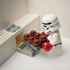 Storm trooper baking.