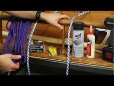 DIY Knot Tying Station to Practice Your Knots - how to tie six boy scout knots