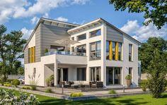Einfamilienhaus von RENSCH-HAUS. New York. Terrassenansicht. Style At Home, Tumblr Rooms, New York, Apartment Plans, Architecture Design, House Plans, Mansions, House Styles, Home Decor