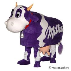 Mascot Makers - mascots, costumes and more | Cow mascot costume for Milka chocolate