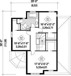 European Plan: 1,721 Square Feet, 3 Bedrooms, 1.5 Bathrooms - 6146-00165 European Plan, Monster House Plans, Best House Plans, Build Your Dream Home, Square Feet, Bathrooms, Living Spaces, Floor Plans, Blue Prints