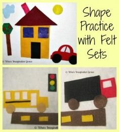 Felt play sets that promote shape recognition from Where Imagination Grows