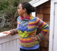 Entrelac sweater #knit