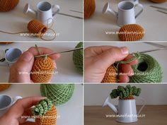 Piante grasse uncinetto in miniatura schemi e spiegazioni - manifantasia Crochet Earrings, Miniature, Plants, Google, Cactus Plants, Amigurumi, Home Ideas, Tricot, Miniatures