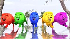 Lion Finger Family Song, Learn Numbers, Learn Colors, Finger Family Rhym...