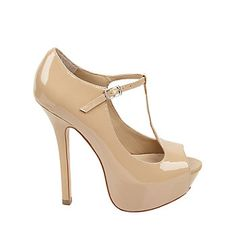 nude t-strap shoes