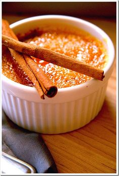 Pumpkin pie creme brulee - infused with Holiday warmth!