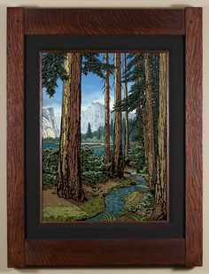 Majestic Red Fir - 2nd of a 4 part California Regions series, focusing on the mountains. - Arts & Crafts - Craftsman - Bungalow - Keith Rust Illustration Framed Giclée Prints