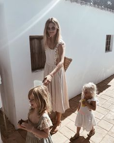 stylish young blonde mum with frill cream dress and two children Family Goals, Family Love, Into The Fire, Mommy Style, Mother And Child, Dream Life, Baby Fever, Maternity Photography, Cute Kids