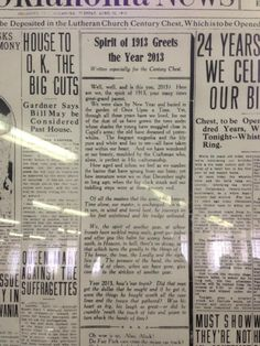 Revealing the Contents of a 100-year-old Time Capsule - So awesome to see all that stuff!! Even an article printed in the 1913 newspaper greeting the year 2013