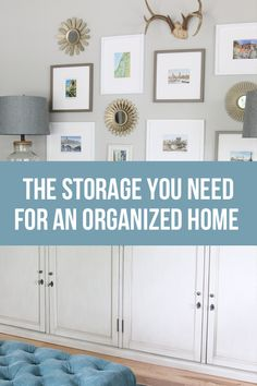 Is your house feeling cluttered? Here's my list of the essential storage you need to have for an organized home!