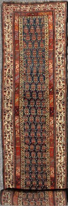 "KEIVAN WOVEN ARTS,   Type :Seraband Origin :Iran  Size : 3'0""x18'11""  Circa :1900"