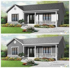 Découvrez ce magnifique bungalow très économique à aire ouvert offrant 2+ chambres !  http://www.dessinsdrummond.com/detail-plan-de-maison/info/1003132.html