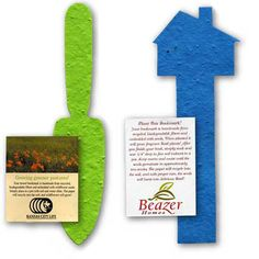 Plantable Seeded Shape Bookmarks with Insert Card - Great for showcasing your custom imprint. Our printing experts make ordering easy. Shop or call now.