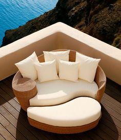 Outdoor Furniture Design want this for my pool area. Outside Furniture, Outdoor Furniture Design, Garden Furniture, Cool Furniture, Rattan Furniture, Antique Furniture, Modern Furniture, Outdoor Living, Outdoor Decor