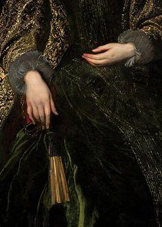 rubenista:  Detail of Marchesa Balbi by Anthony van Dyck (1623)
