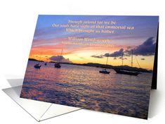 Sympathy Sailboats at Sunset card