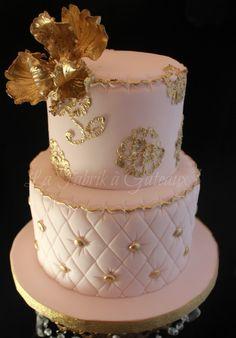 Bridal shower cake...lovely.